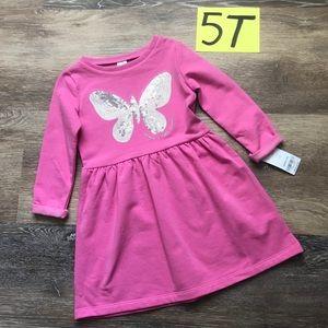 🛍NWT Carter's Girls 5T Fleece Long Sleeve Dress